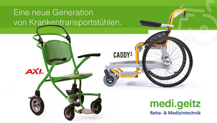 Eine neue Generation von Krankentransportstühlen